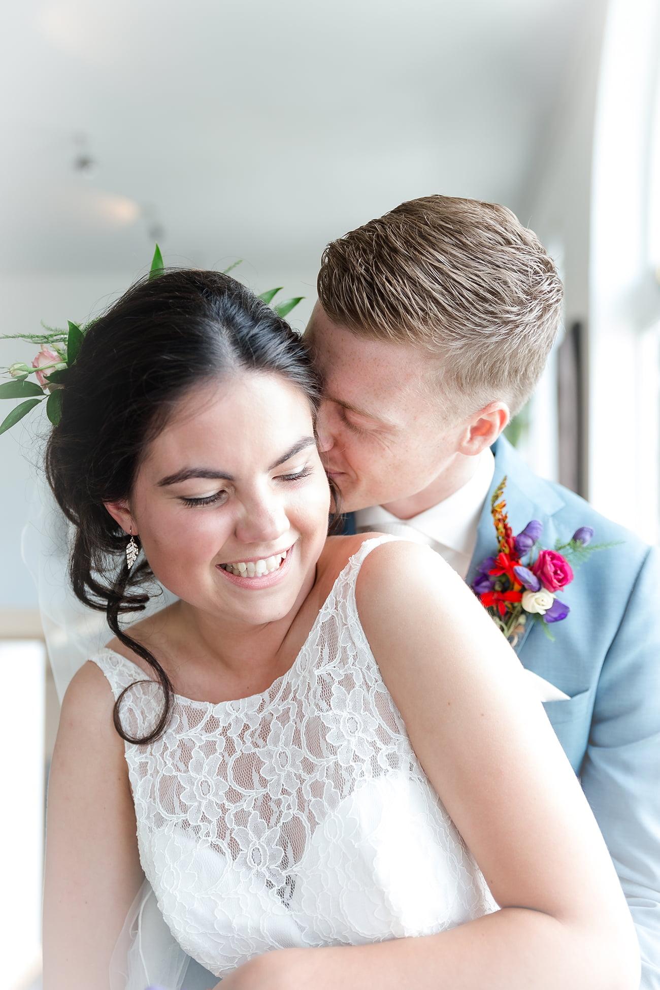 Huwelijks fotografie Bruidsportretten trouwen © Quo Fotografie
